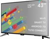 SMART Հեռուստացույց ERGO 43 Full HD Android 7 TV WiFi հիանալի որակի herustacuyc