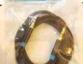 Պրոֆեսիոնալ audio kabel 0,5m 1m 3.5mm (male to male) մետաղապատ ՕՐԻԳԻՆԱԼ կաբել
