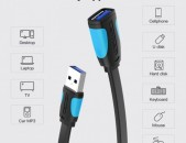 Vention cable USB 2 USB 3 (mama papa) 1m 2m 3m մալուխ for PC printer tv camera kabel