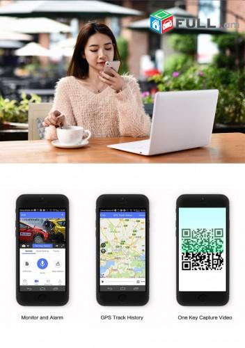 """10"""" ավտոյի վիդեոռեգիստրատոր FHD 4G / LTE Android gps Wifi ADAS 16G կամերա"""