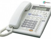 քաղաքային Հեռախոս Panasonic LCD ekran 2 Line Caller ID գրեթե նոր  առաքում