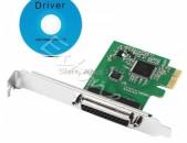 LPT port PCI-E card kontroler DB25 25pin adapter controller +  ԱՌԱՔՈՒՄ