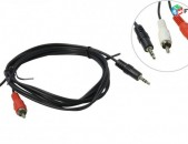 Audio cable 2RCA stereo AUX Cable 1.5m 3.5mm mini jack for camera monitor