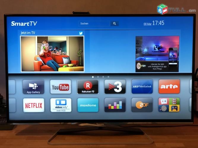"Philips Հեռուստացույց Smart LED TV с 3D 42PFL5038K 107 см (42"") с Easy 3D и DVB-T/C/S/S2 с 2-сторонней подсветкой Ambilight и Pixel Plus HD"