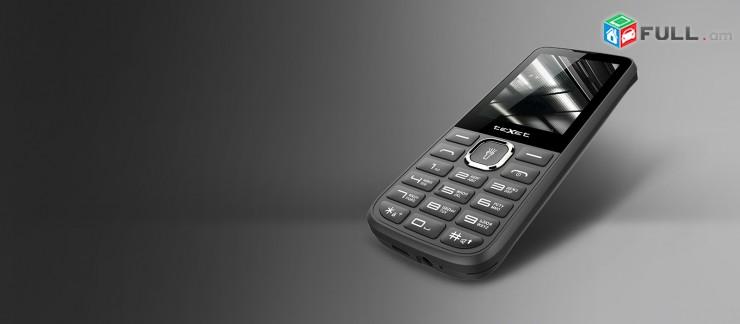 """Հեռախոս TEXET 2,4"""" 2 sim card SD card CAMERA - նոր - heraxos fm radio"""