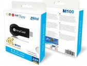 2,4G WIFI display дисплей AnyCast 4K M100 2,4G wireless անլար Chrome cast Mirroring