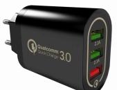 QuickChange 3.0 3x USB port licqavorich, zaryadochnik լիցքավորիչի գլխիկ