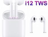 i12 TWS անլար ականջակալ earphones նաուշնիկ наушники