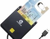 ID Smart Card Reader Zoweetek USB բանկային և սոցքարտ քարտ կարդացող սարք սմարտ
