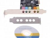 PCI-E Sound Card 5.1CH 5.1 CMI8738 Audio համակարգչի Ձայնային աուդիո քարտ звуковая карта