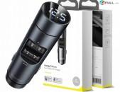 Baseus Energy Column Car Wireless MP3 Charger 5.0 + 5V / 3.1A car chaeger լիցքավ Quick CHARGE 3.0 Quick Charg