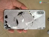 Apple iphone X, XS XS max, hetevi apakineri poxarinum, cacr gin, barcr vorak,