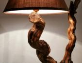 Լուսամփոփ փայտե դեկորով, Светильник из дерева