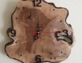 Պատի ժամացույց ծառի կոճղից, Часи из дерева