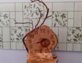 Ժամացույց փայտից, часы из дерева