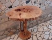 Սեղան կոճղերից, стол из дерева