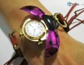 Новые, швейцарские, женские часы JUFREX. В виде божьей коровки