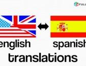 Իսպաներեն թարգմանություն, Испанский перевод, Spanish translation, Ispaneren targmanutyun․