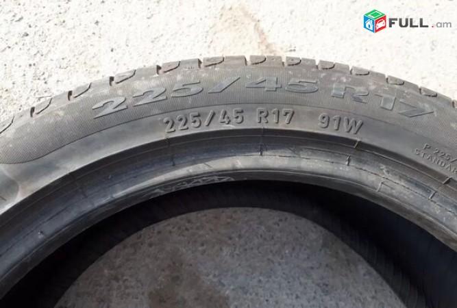 225 45 r17 Pirelli 85-90% 2016tiv 2ht