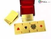 Gold poker cards nor