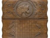 Nardi Gayli patkerov. Գայլի պատկերով նարդի. нарды с изображением волка