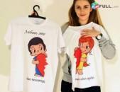 Բամբակյա շապիկներ Ձեր նախընտրած նկարներով և գրություններով