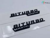 BITURBO 4MATIC Emblem Original Mercedes-Benz Meqenaneri hamar (1 զույգ)