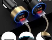 Meqenayi Dual USB Traynik Fast Charger 5V 3.1A LED Display