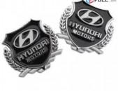 HYUNDAI emblem MOTORS Metaxakan Emblemner 2 հատ Hyundai logo