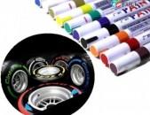 Մեքենայի Անվադողերի Ջրադիմացկուն Մատիտ (Տարբեր գույների)