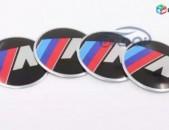 BMW Bandaji Kalpak M Nakleyka emblem logo (4 hat) (56mm & 65mm) բարձր որակ