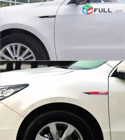 Hyundai TURBO Emblem hyundai logo sport emblem (Բարձր Որակ) 2Pcs