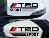 TRD Մեքենայի Կողային Հայելիների Նակլեյկա (2 հատ) Ավտո Սթայլ