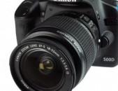 Canon 500d + 18-55 obyektiv (lens) / Canon Rebel T1i