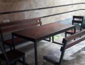 Ամառանոցի աթոռ, նստարան և սեղան մետաղից