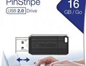 Usb Flash Verbatim PinStripe 16gb USB 2.0 նոր անվճար առաքում