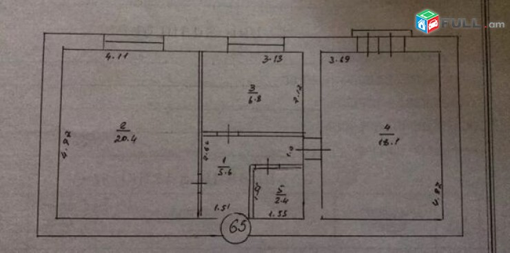 2 սենյականոց բնակարան Կոմիտաս 57 Ստալինյան նախագիծ