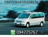 Ուղևորափոխադրումներ uxevorapoxadrumner Mercedes benz Vito-ով uxevorapoxadrum