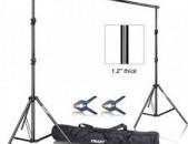 Photography Background Backdrop Stand Support System Kit for Photo Studio Muslin Backdrops, Paper and Canvas with Carrying Bag. 260x300cm.