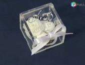Օրիգինալ Հարսանեկան տարոսիկներ (օրգանական ապակուց տուփեր) Harsanekan tarosikner