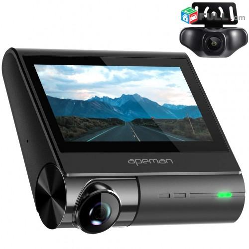 4K Dash Cam, GPS, Video Registrator, Registratr, Kamera, Camera, Tesaxcik, WiFi