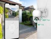 Wireless Outdoor PTZ Camera, Sharjakan IP Kamera Zaryadkayov WiFi