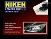 LED luyser Niken H1 H3 H4 H7 H11 9005 9006