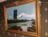 ԱՐԱՐԱՏ~ՄԱՍԻՍ ձեռքի գործ նկարիչ КОНОВЧЕНКО 1987թ. գեղեցիկ նկար Գինը Սակարկելի