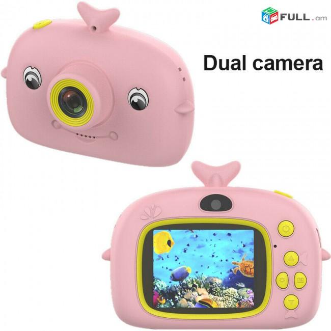 """Մանկական տեսախցիկ """" Դելֆին """" ֆոտո, վիդեո, սելֆի և խաղեր Mankakan tesaxcik camera foto"""