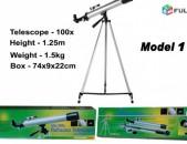 Telescope 100x, 600x50mm, 125cm Tripod, Dprocakan Astxaditak, Model 1 - Akcia