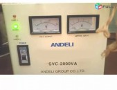 Stabilizator стабилизатор հոսանքի կարգավորիչ Andeli 2000W 220V / 110V
