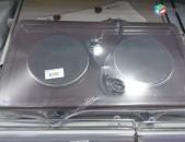 SHENSERVICE էլ. օջախ Nurgaz տաքացուցիչ հոսանքով 2 տեղ plita պլիտա