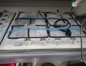 SHENSERVICE Գազօջախ Welux 4 տեղանոց սպիտակ պտուտակները դիմացից