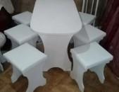 Լամինատից սեղաններ եւ աթոռներ